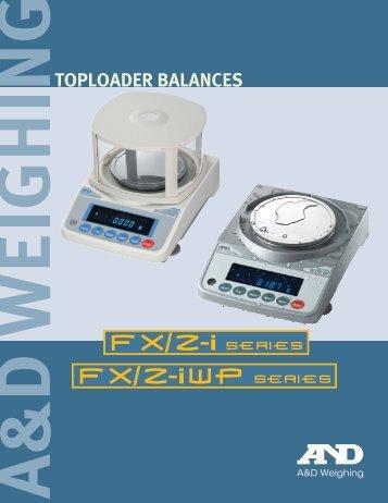 TOPLOADER BALANCES - Quasar Instruments