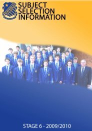 Subject Selection Booklet - Stage 6 - 2009/2010 - Waverley College