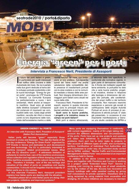 """Energia """"green"""" per i porti - Porto & diporto"""