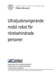 Ultraljudsnavigerande mobil robot för rörelsehindrade personer