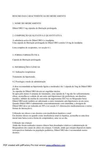 RESUMO DAS CARACTERÍSTICAS DO MEDICAMENTO 1 ... - Jaba