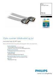 SWV3672S/10 Philips Fladt SCART-kabel