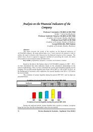 Analysis on the Financial Indicators of the Company - Revista ...