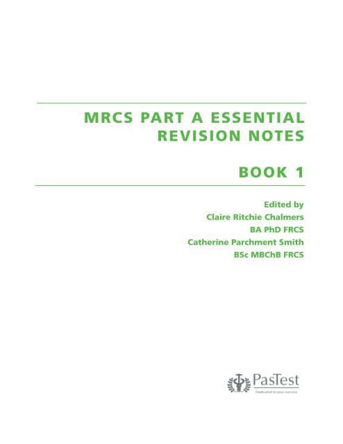 Mrcs Part A Essential Revision Notes Book 1