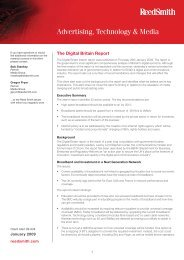 Digital Britain Report - Reed Smith