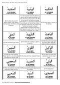 99 Names of ALLAH Azza Wa Jul - Noore Madinah Network - Page 5
