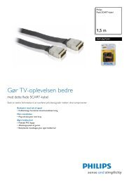 SWV3672W/10 Philips Fladt SCART-kabel