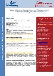 www .un iv-lem an s.fr - Faculté des Sciences et Techniques