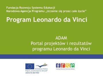 Baza ADAM - Leonardo da Vinci