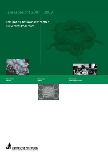 Jahresbericht 2007 - Fakultät für Naturwissenschaften - Universität ...