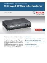 PLE‑1MAxx0‑EU Plena-mikserforstærker - Bosch Security Systems
