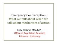 Emergency Contraception: What we talk about when we What we ...