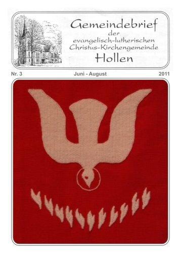2011 Nr. 3 Juni - August - Kirchengemeinde Hollen