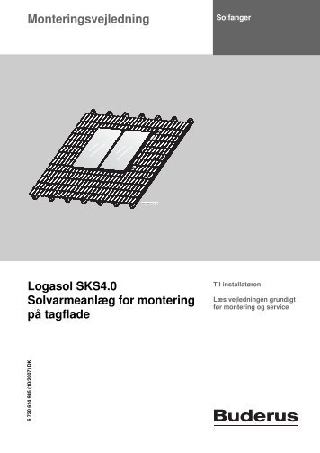 4. SKS4,0 Monteringsvejledning fladt tag.pdf - Buderus