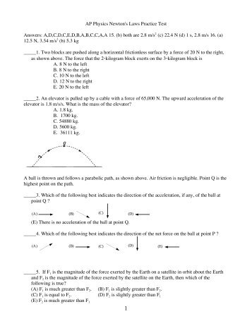 Bertrand Ap Physics C Answers