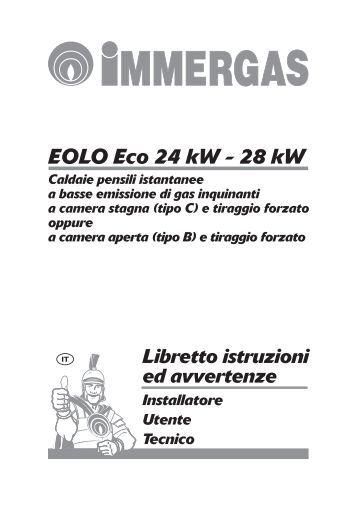 Eolo eco 24 kw 28 kw for Caldaia immergas eolo mini 24 kw
