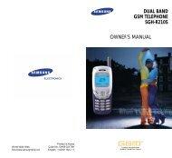 dual band gsm telephone sgh-r210s owner's ... - Telekomunikacije