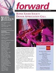 forward ROPER XAVIER SOCIETY DONOR APPRECIATION GALA