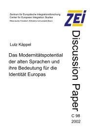 Das Modernitätspotential der alten Sprachen und ihre Bedeutung für ...