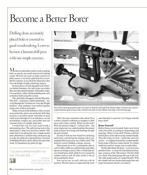 September 2007 - Popular Woodworking Magazine