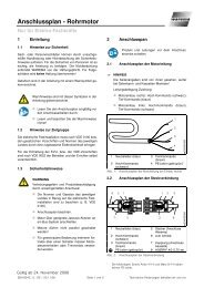 Anschlussplan - Rohrmotor