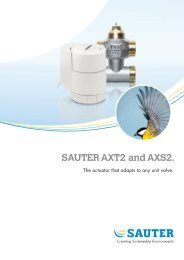 SAUTER AXT2 and AXS2. - Sauter Automation AB