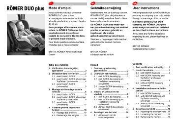 RÖMER DUO plus - F-NL-GB- 09.06.fm - Migros Do-It + Garden