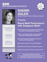 Two Singapore Math Demonstrations! - Staff Development Resources