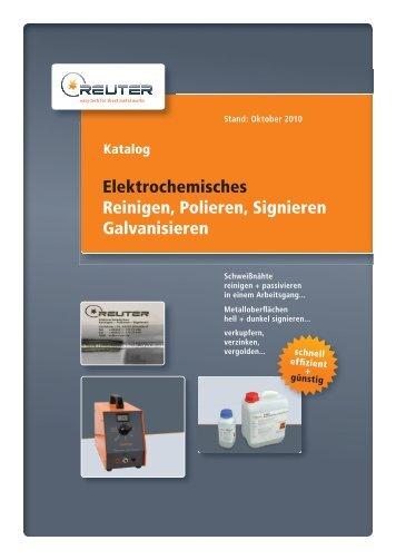 Elektrochemisches Reinigen, Polieren, Signieren Galvanisieren