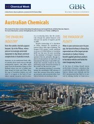Australian Chemicals - Global Business Reports