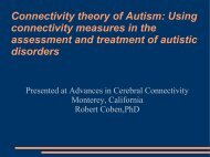 Connectivity theory of Autism: Using connectivity measures in the ...
