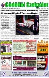III. Nemzeti Együvé Tartozás Napja - Gödöllői Szolgálat