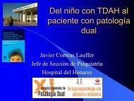 Del niño con TDAH al paciente con patología dual - Asociación ...