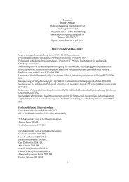 Pedagogisk verksamhet - Statsvetenskapliga institutionen ...