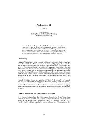 Agribusiness 2.0 - Die GIL