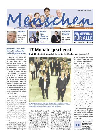 Kundenzeitschrift Februar 2012 - Volksbank Wipperfürth-Lindlar eG