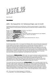 Press Release Press Release LISTE – The Young Art Fair ...
