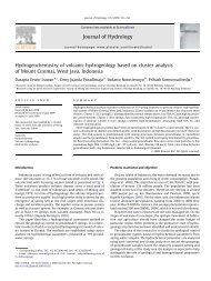 Hydrogeochemistry of volcanic hydrogeology based on cluster ... - ITB
