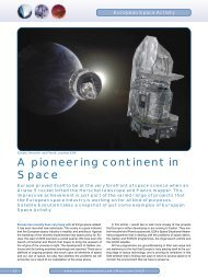 A pioneering continent in Space - Satellite Evolution Group