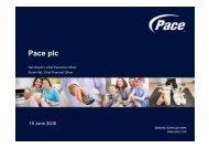 Pace Analyst Briefing presentation