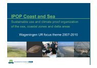 IPOP Coast and Sea - Wageningen UR