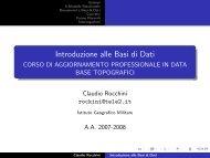 Introduzione alle Basi di Dati - CORSO DI AGGIORNAMENTO ...