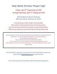 Prayer Vigil Sign Up April 2012