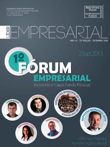 72ª Edição - Setembro 2013 - CDL/Associação Empresarial de ...