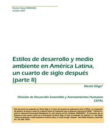 Estilos de desarrollo y medio ambiente en América Latina, un cuarto ...