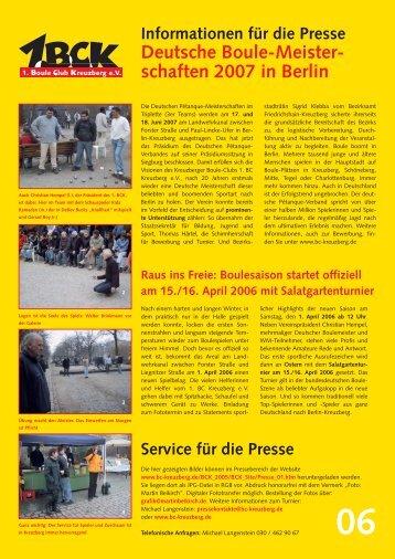Presseinformation 06 als PDF - Boule Club Kreuzberg