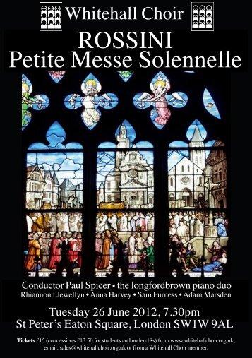 Flyer - Whitehall Choir