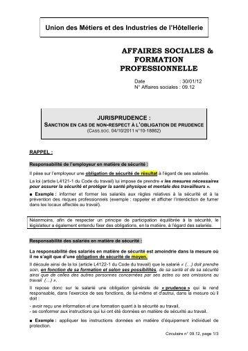 SANCTION EN CAS DE NON-RESPECT A L'OBLIGATION DE