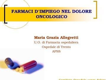 Farmaci di impiego nel dolore oncologico-ALLEGRETTI