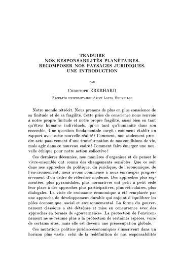 eberhardbruylant.pdf - Droits de l'Homme et Dialogue Interculturel